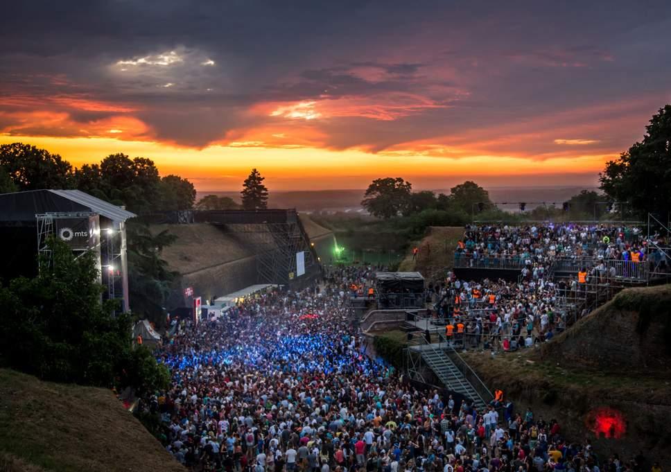Exit Festival (non 2021) qui a lieu chaque année à Novi Sad