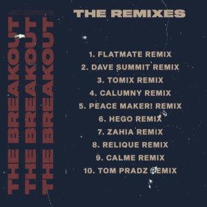 """Cover détaillée de """"The breakout Remixes EP"""""""