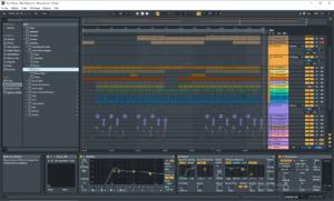 Interface du logiciel Ableton Live