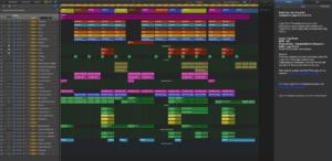 Interface du logiciel d'Apple Logic Pro X