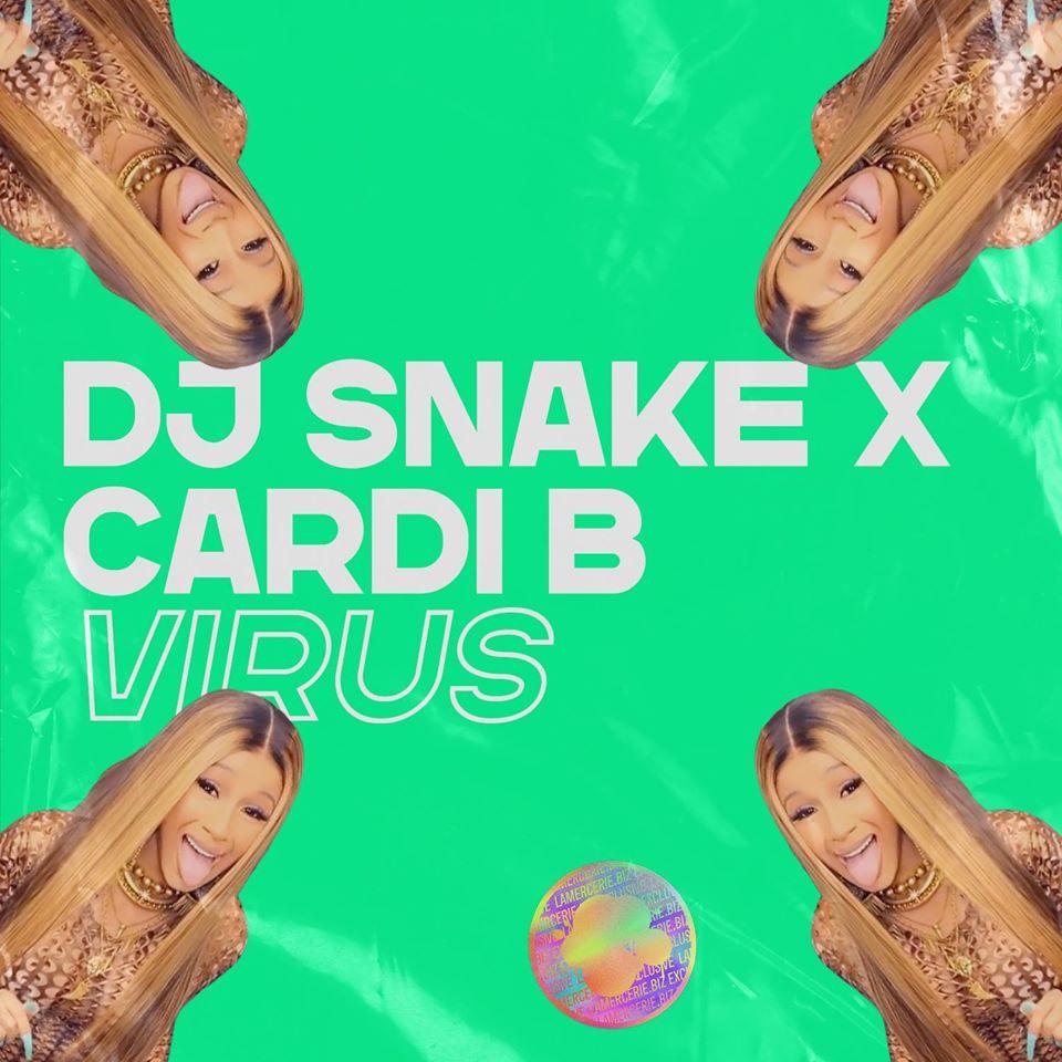 Cover du titre Virus de DJ Snake et Cardi B