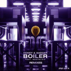 Cover du pack de remixes de Boiler de Honey & Badger