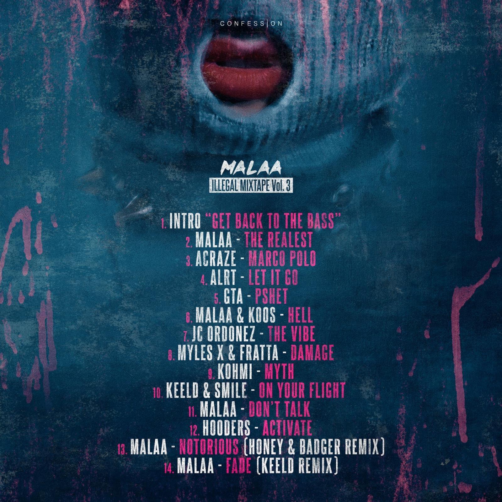 malaa illegal mixtape 3 tracklist