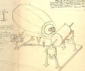schéma phonautographe Scott 1859