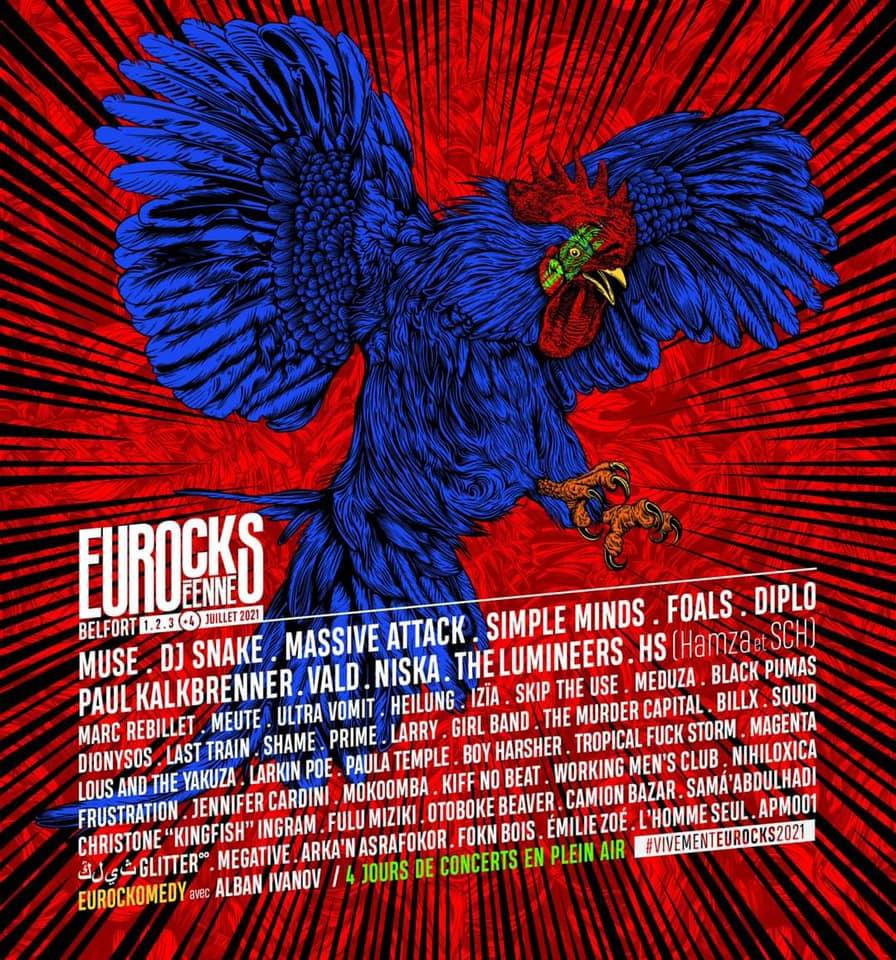 Line Up 2021 du festival Eurockéennes de Belfort