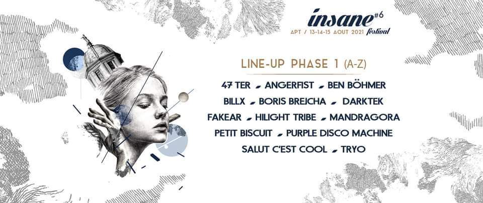 Line-up de l'Insane Festival