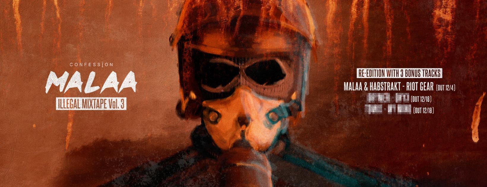 "Cover de ""Riot Gear"" de Malaa & Habstrakt"
