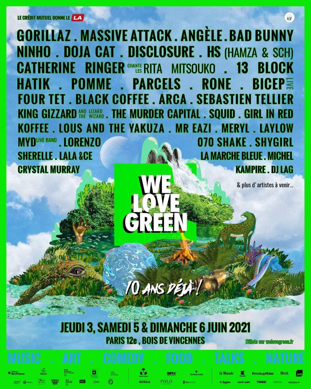 Line-up du We Love Green Festival