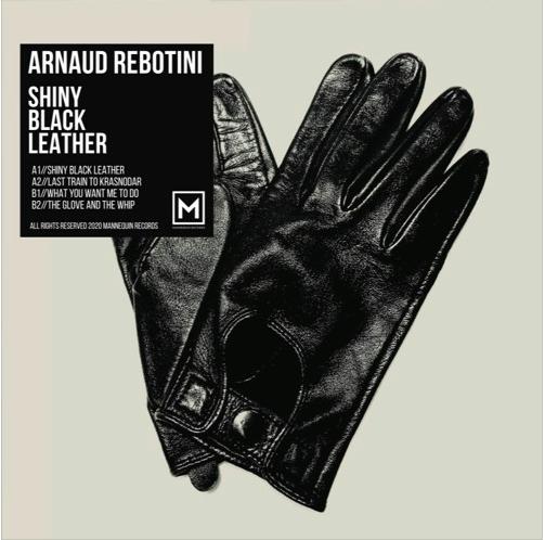 Arnaud Rebotini - Shiny Black Leather Cover 2