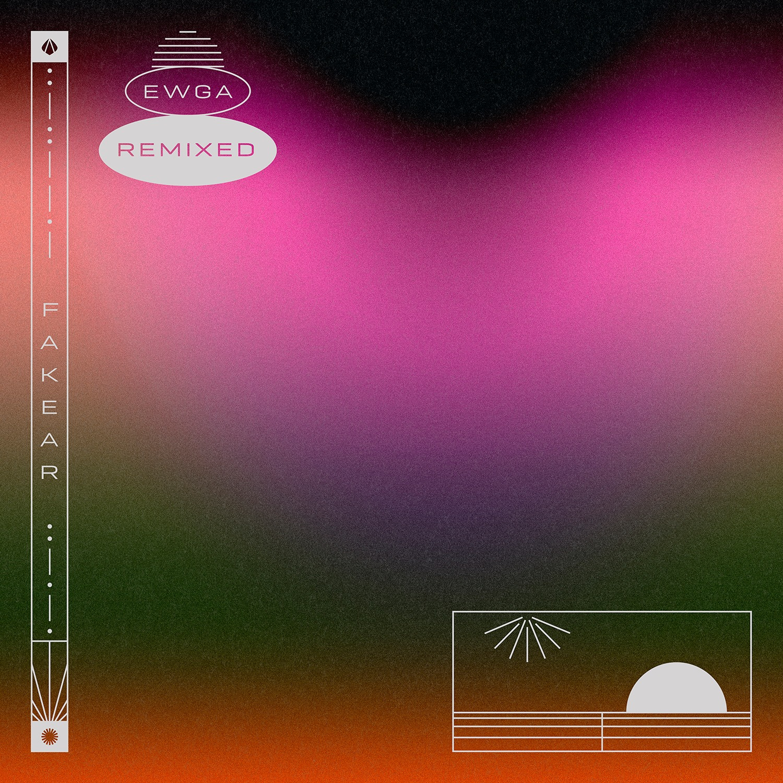 cover de remix EP de EWGA, le dernier album de Fakear
