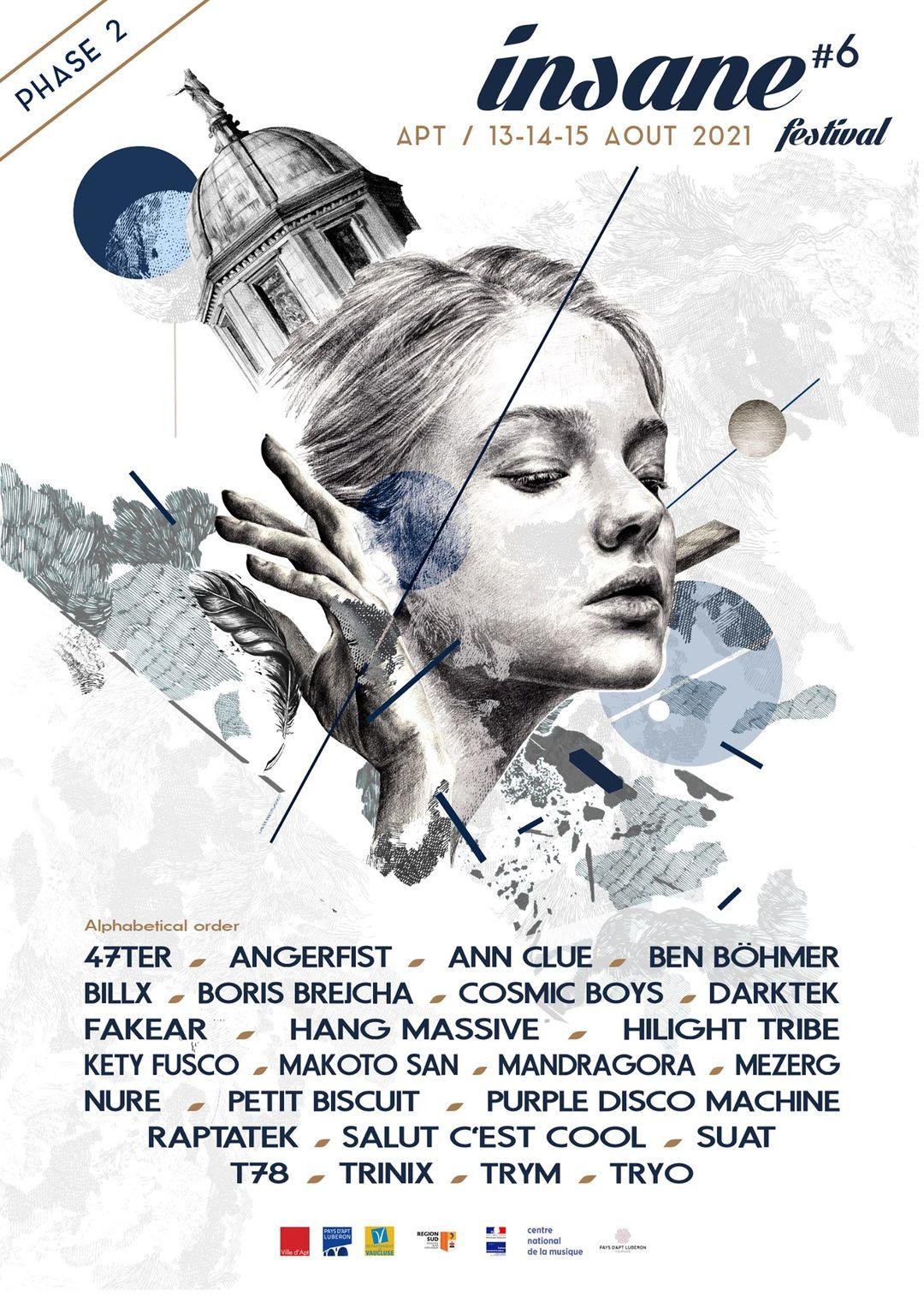 Line-up de l'Insane Festival 2021