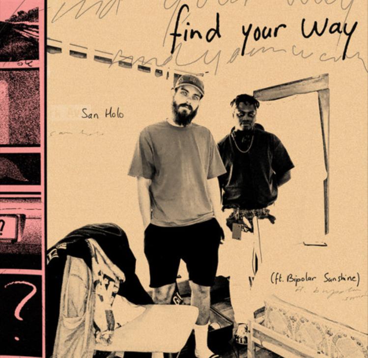 """Cover de """"find your way"""" de San Holo et Bipolar Sunshine"""