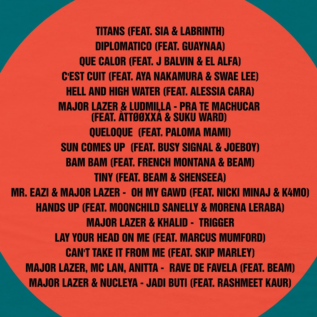 Major Lazer tracklist Music is the Weapon
