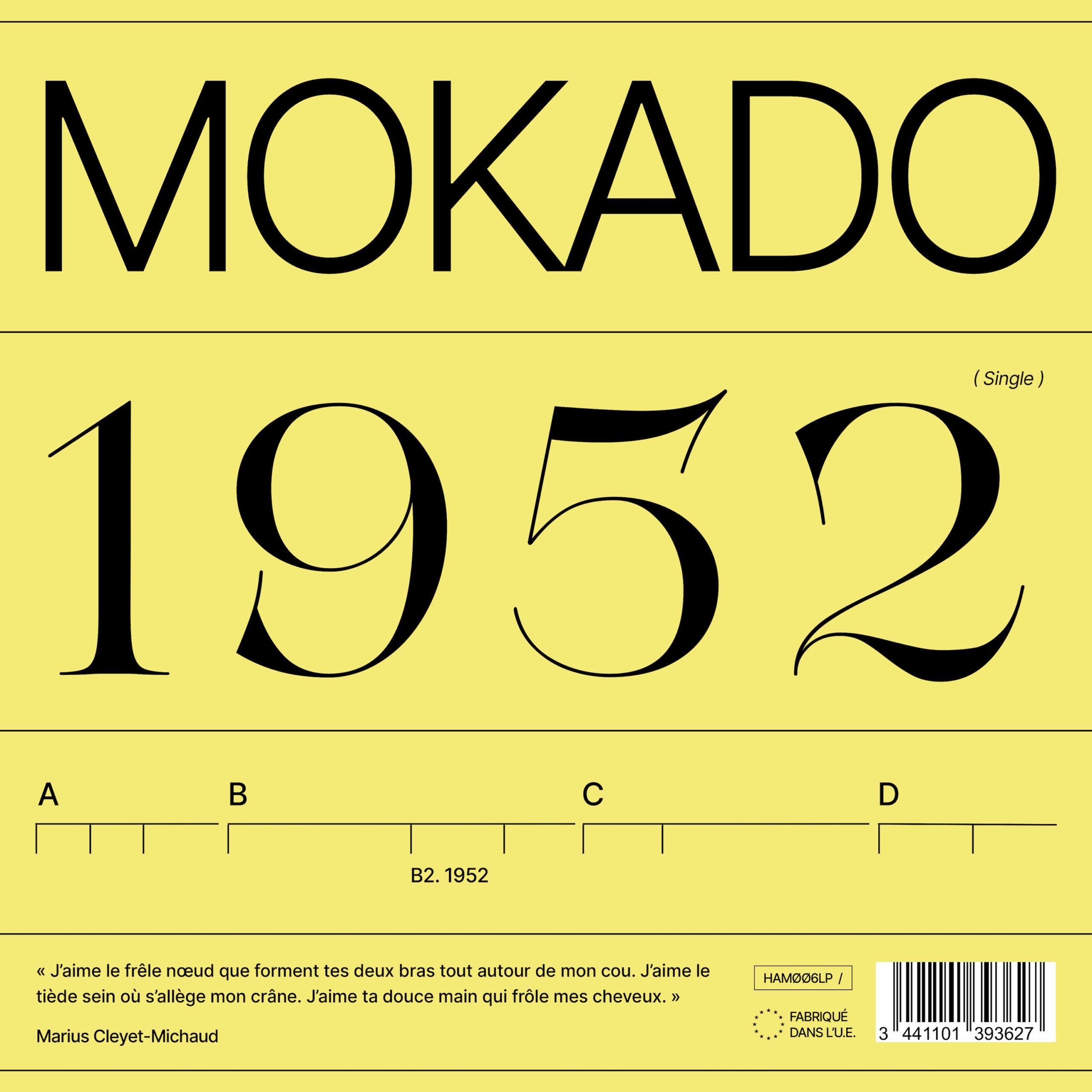 """Cover du titre """"1952"""" de Mokado !"""